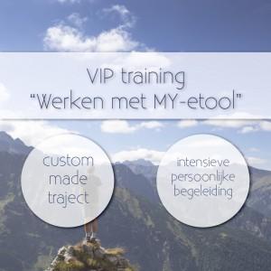 VIP traject Werken met MY-etool